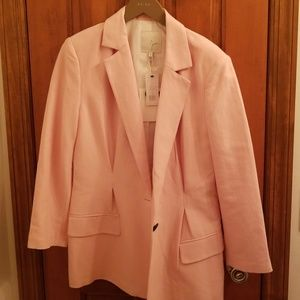 Joie washed rose linen matching blazer and pants